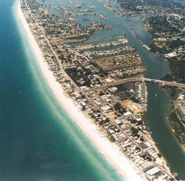 Aerial View of Indian Rocks Beach Florida